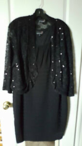Evening Dress w Scalloped Jacket