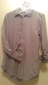 Brand New Grey button down size Medium