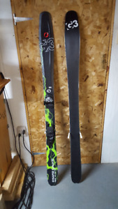ski G3 synapse carbon 92 165cm fin 2015 + fix salomon warden 13
