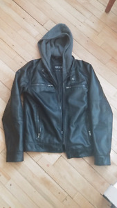Leather jacket. Guess