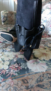 BLACK LEATHER BOOTS (cost over $500+tax in store) Kitchener / Waterloo Kitchener Area image 6