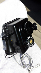 "ANTIQUE AUTOMATIC ELECTRIC WALL TELEPHONE ""WORKING"""