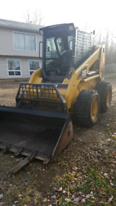 cat 246 skid steer w/attachments