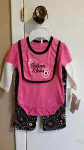 Calvin Klein brand new with tag girls outfit set