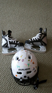 Bauer Sport Youth Hockey Helmet Combo and Hockey Skates