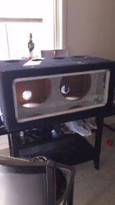 """Dual 12"""" bandpass box with ultimate sound subwoofers"""
