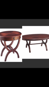 Coffee table and end table (sold together)