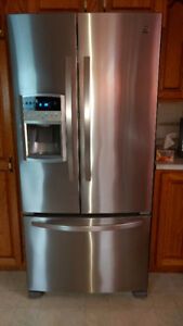 Kenmore stainless steel fridge in new condition