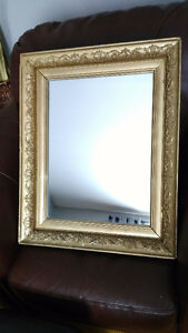 "1930s Antique Wall Mirror (20"" X 26"") - Plaster Frame"