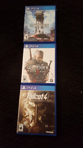 Witcher 3, Fallout 4, Star Wars Battlefront