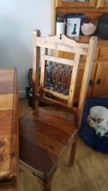 Dining table & 6 chairs, jali sheesham wood.