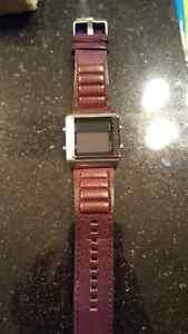 Deep Brown/Red Mens Digital Fossil Watch