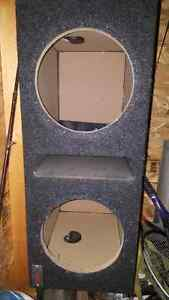 Atrend dual 10 inch ported subwoofer box.