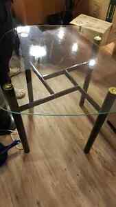 Glass table and 2 chairs $80 OR Best Offer Edmonton Edmonton Area image 2