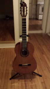 Valencia Acoustic Guitar with Stand and Tuner