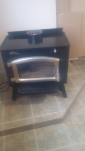 Wood stove with blower.  Sold