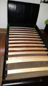 Leather Bed Frame Single/Twin
