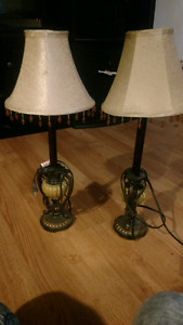 Set of lamps and spider man lamp
