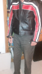 Men's Motorcycle Jacket, Size 44, DOT helmets, gloves and cover