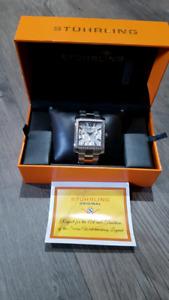 Women's solid stainless steel Stuhrling Watch