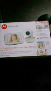 """5"""" portable digital video baby monitor with wifi"""