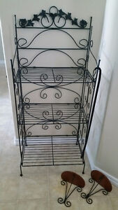 Wrought Iron Shelf w/matching sconces