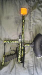 Two paint ball guns