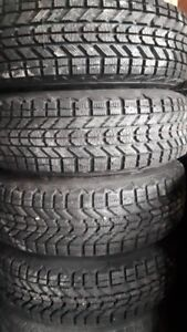 R14 195-75 WINTER TIRES WITH RIMS. FREE INSTALLATION.
