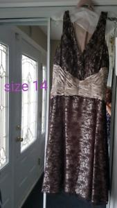 Btown/bronze evening dress size 14