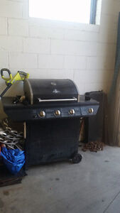 GRILLMASTER BBQ 3 summers old & works great!!!  Must go ASAP