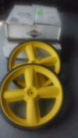 """New """"Brute"""" large replacement lawnmower (high) wheels"""