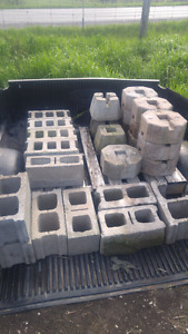 Assorted deck blocks and brick. FOR SALE.