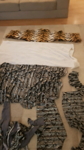 Fur material offcuts, bear making