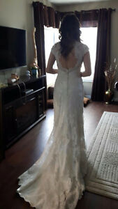 """Classic Ivory Lace """"Allure Romance"""" Wedding Gown"""