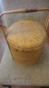 wicker storage basket 2 tier