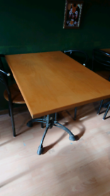 Restaurant tables with chairs