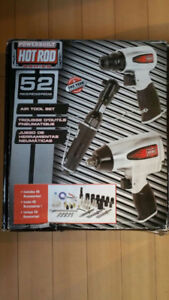brand new in box,  Power built Hot ROD 52 pieces Air tool set