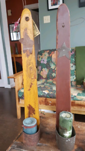 Rustic candle holders by Rusty Hinges!