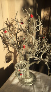 Decorative table-top centrepiece (battery operated light) $10