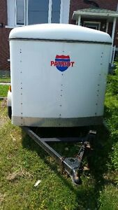 Selling white Patriot trailer. 5x8. Contact Ray. 705.477.8225