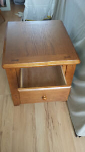 Solid Wood Teak or Oak Table Drawer Stand Cabinet