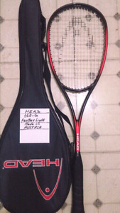 Brand Name Squash/ Racquets, Light Wt. New or Mint Condition