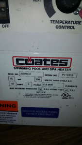 Pool / hot tub heater electric