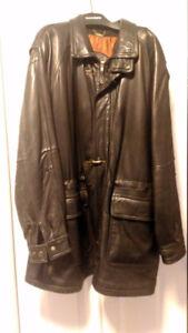 lambskin leather coat size large