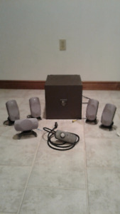 LOGITECH Z 500 5.1 CHANNEL SURROUND SOUND SPEAKER SYSTEM