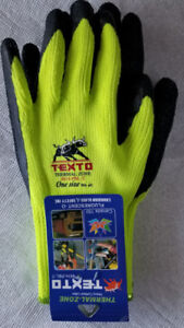 Work Gloves, Dotted , coated, Latex & Thermal Zone.