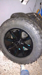 "Dodge Ram New 35 ""Lion Heart Lion Claw MTS Tires on New KMC Rims"