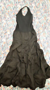 Brand New Black Bohemian Halter Dress with Full Gypsy Skirt