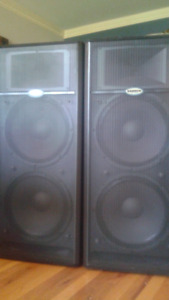 PA Speakers Samson L1215 Live Pair Bi-amped 500W