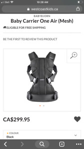 NEARLY NEW - BABY BJORN MIRACLE MESH CARRIER